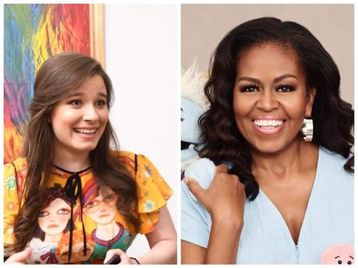 Kira Hagi și Michelle Obama.