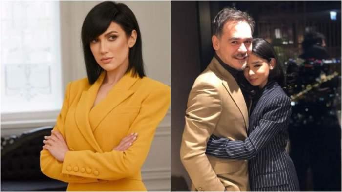 Colaj cu Daliana Răducan în costum galben/ Ianca și Răzvan Simion.