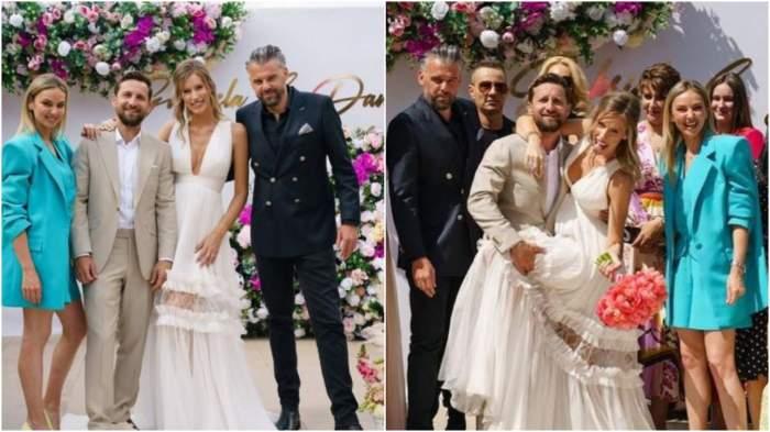 Colaj cu Dani Oțil, Gabriela Prisăcariu, Tinu Vidaicu și Roxana Ionescu la nuntă.