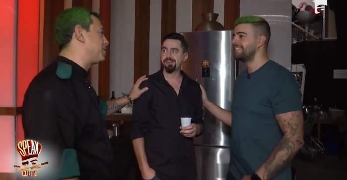După ce Sorin Bontea s-a vopsit verde în cap, Speak și-a făcut aceeași schimbare de look! Așa arată acum co-prezentatorul de la Chefi la cuțite / FOTO