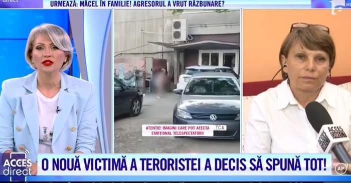 """Acces Direct. Atacatoarea Mirelei Vaida s-a dezlănțuit la Gara Basarab din Capitală. A vrut să arunce cu bolovanul într-o călătoare: """"Am început să strig"""" / VIDEO"""