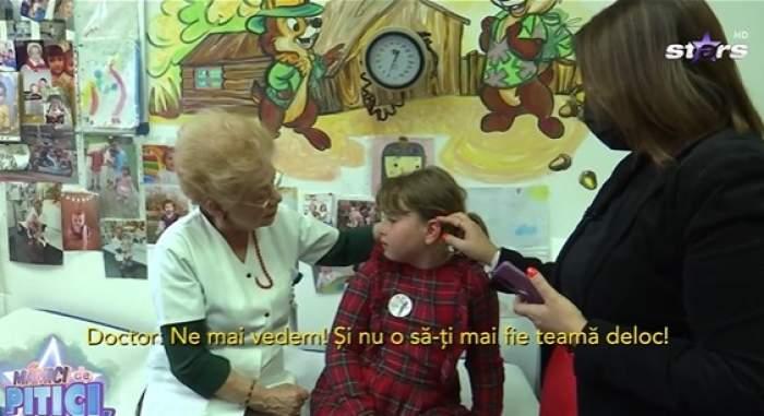 Oana Roman și fiica sa la doctor