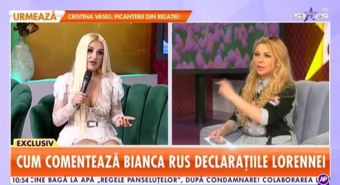 Captură video cu Bianca Rus la Antena Stars.