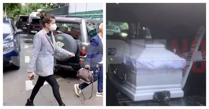 Coșciugul lui Ion Dichiseanu a fost adus la spital. Primele imagini cu fiica îndurerată a maestrului. Cum arată sicriul în care va fi înmormântat/ VIDEO