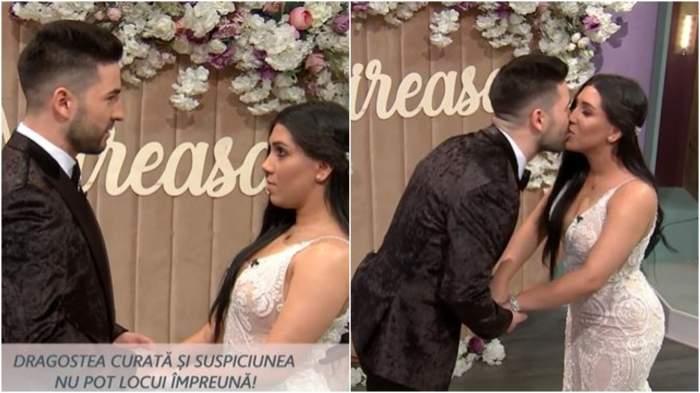 Colaj cu ziua în care Andra și David s-au căsătorit.