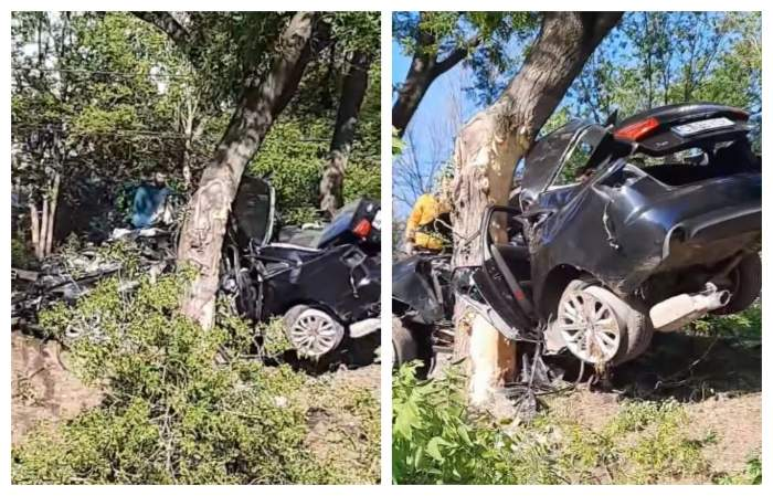 Accident tragic în Medgidia. Doi tineri de 22 și 23 de ani au murit pe loc în urma impactului violent / FOTO