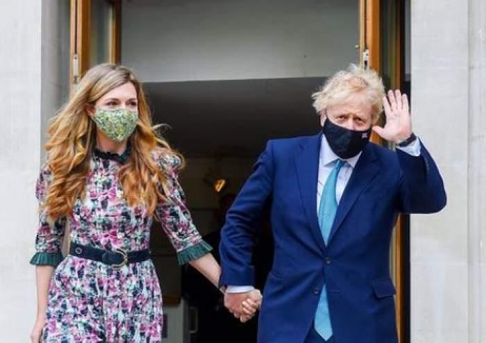 Boris Johnson alături de logodnica lui