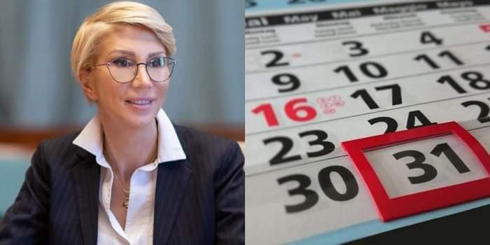 raluca turcan colaj cu imagine calendar
