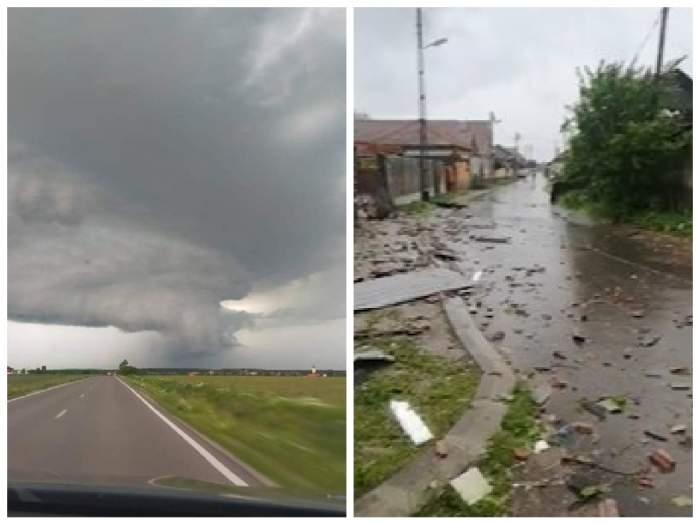 furtună și case distruse în bihor