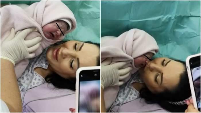 Captură cu Angela Rusu și fiica sa, din spital.