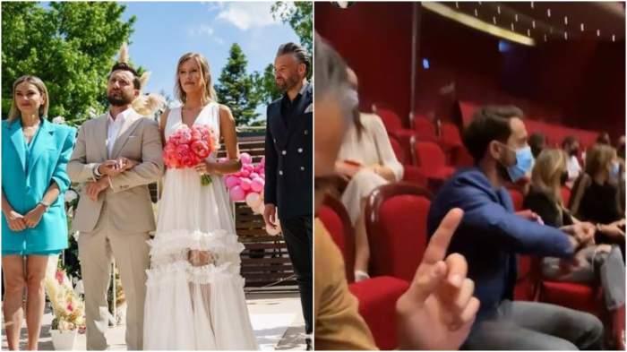 Colaj cu Dani Oțil, Gabriela Prisăcariu, Tinu Vidaicu și Roxana Ionescu la nuntă/ Tinu Vidaicu alături de Dani Oțil, Gabriela Prisăcariu și Roxana Ionescu la teatru.