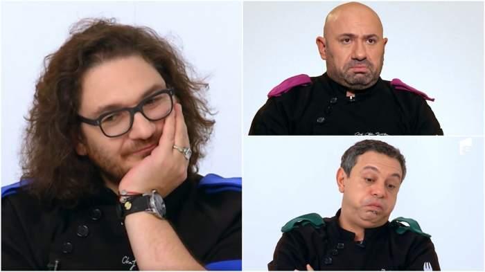 Captură video cu jurații Chefi la cuțite.