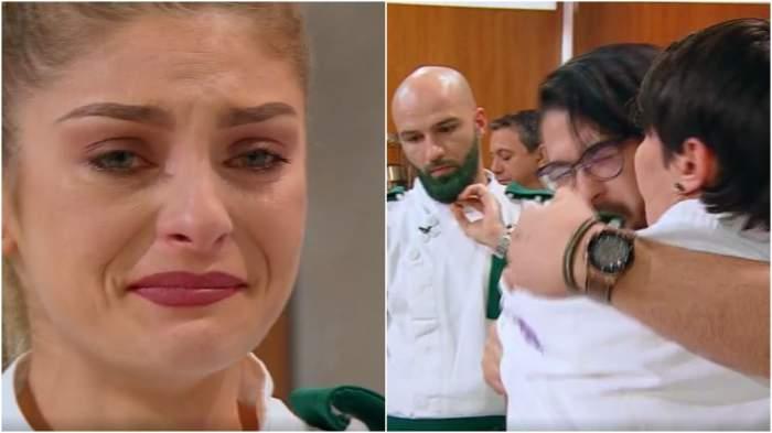 Colaj cu concurenții în lacrimi.