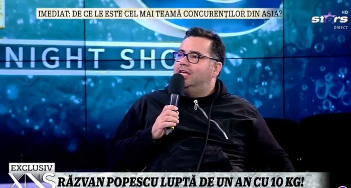 Răzvan Popescu la Xtra Night Show.