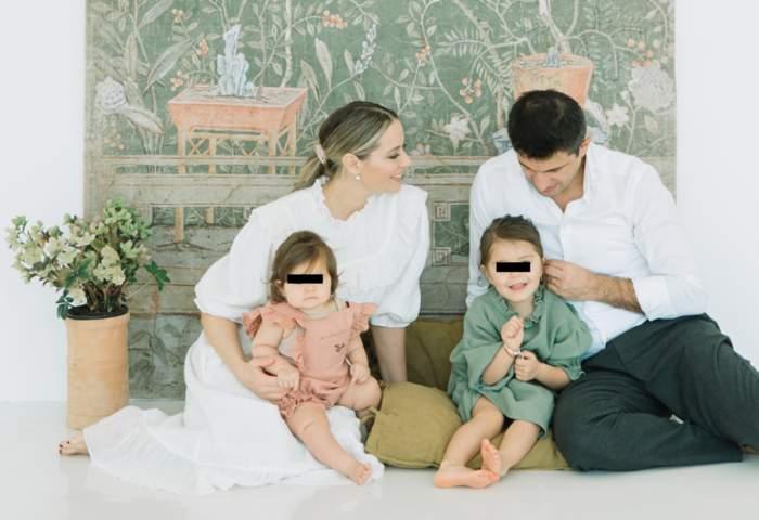 laura cosoi cu sotul si fetitele