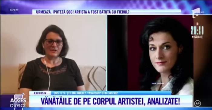 Acces Direct. Crimă sau accident în cazul mezzosopranei Mariei Nicoară? Vânătăile de pe corpul artistei au fost analizate / VIDEO