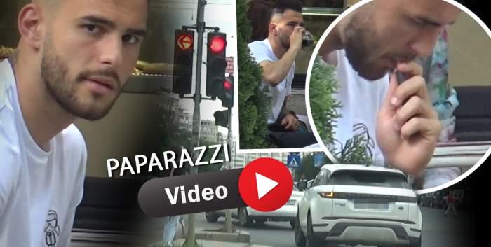 Marius Marin, prevăzător când vine vorba de ieșiri în public, dar nu și când se urcă la volan. Cum a șocat tânărul fotbalist în trafic, ziua în amiaza mare / PAPARAZZI