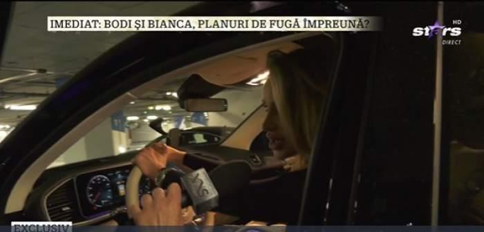 Bianca Drăgușanu, în timpul unui interviu la Xtra Night Show
