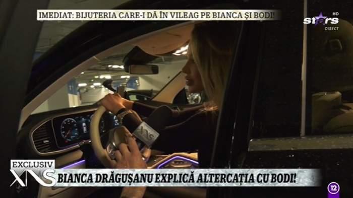 Bianca Drăgușanu în mașină