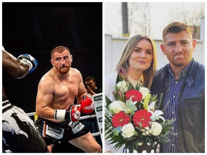 Colaj Cătălin Moroșanu în ring și cu soția