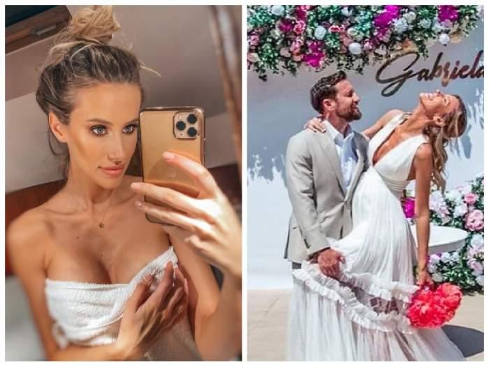 Colaj cu Gabriela Prisăcariu la baie și cu ea și Dani Otil la nuntă