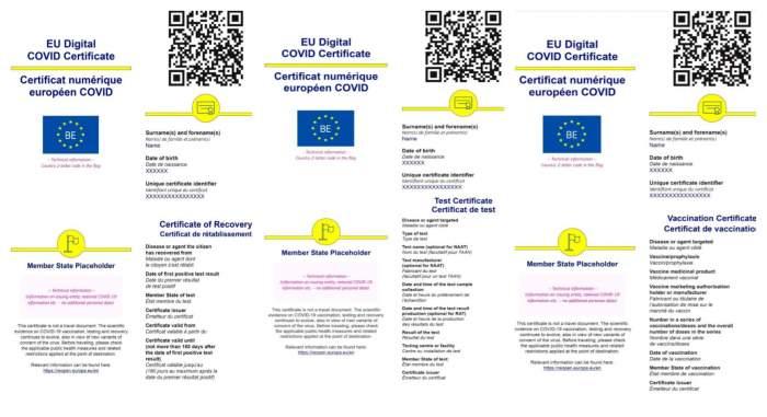Pașaportul Covid a fost testat și aprobat cu succes de către STS. Iată cum va arăta documentul aprobat deja de Uniunea Europeană