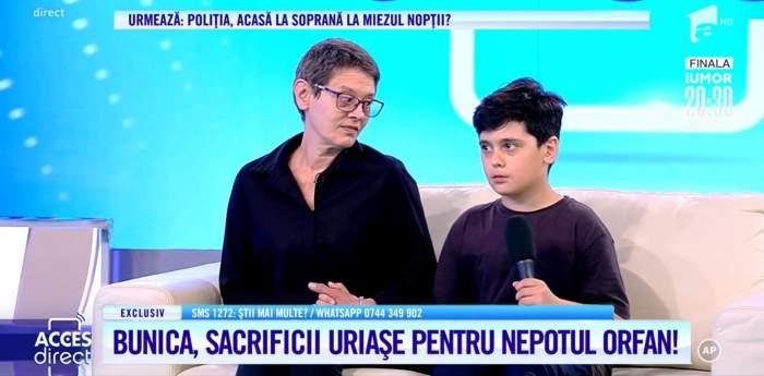 Acces Direct. Drama trăită de fiul actorului Criprian Fanaca de la Divertis. Radu a rămas orfan și de mamă, iar bunica nu îl mai poate crește fără ajutor / VIDEO