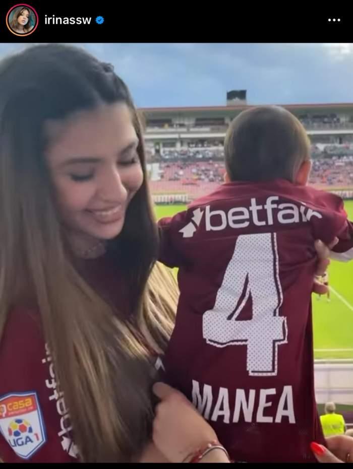 Iubita și fiica lui Cristian Manea, cele mai mari fane ale fotbalistului. Ce imagine a postat Irina Deaconescu pe Instagram / FOTO