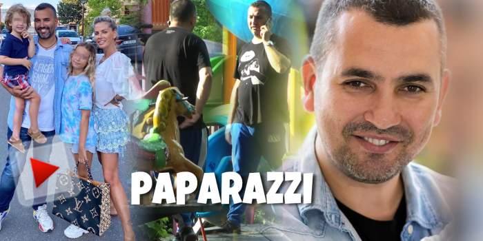 Neatenția îl costă pe Lucian Mitrea! Soțul Andreei Bănică, la un pas de accident în parcul de joacă pentru copii / PAPARAZZI