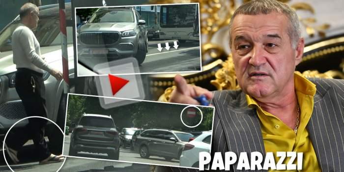 Când ești Gigi Becali nu-ți pasă nici de modă, nici de lege! Plecat de acasă în șlapi, milionarul a încălcat regulile din trafic, după ce și-a luat permisul înapoi de la Poliție! / PAPARAZZI
