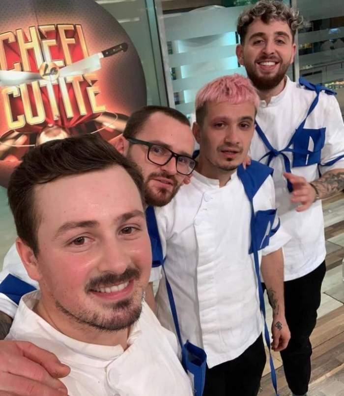 Keed, Catalin Amarandei, Florin Revesz sunt in bucatarie la Chefi la cutite
