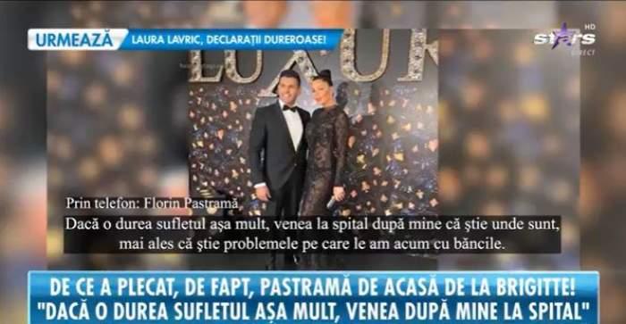 Captură video cu Florin Pastramă în timpul interviului.