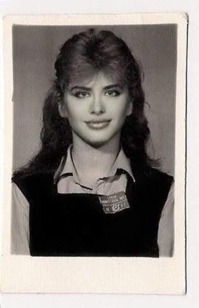 Loredana Groza în adolescență.