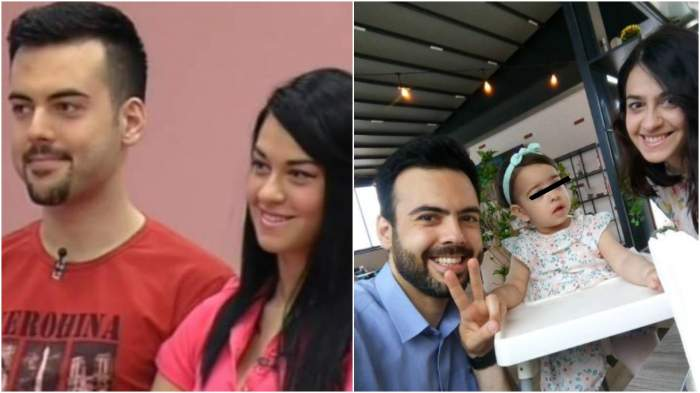 Colaj cu Grigore și Mariana la în concurs/ Grigore și Mariana în prezent, alături de fiica lor.
