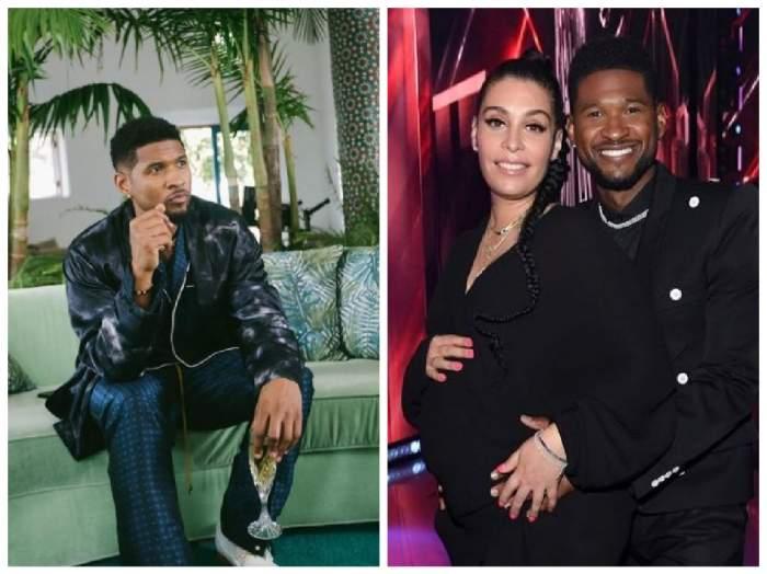 Usher alături de iubita lui însărcinată