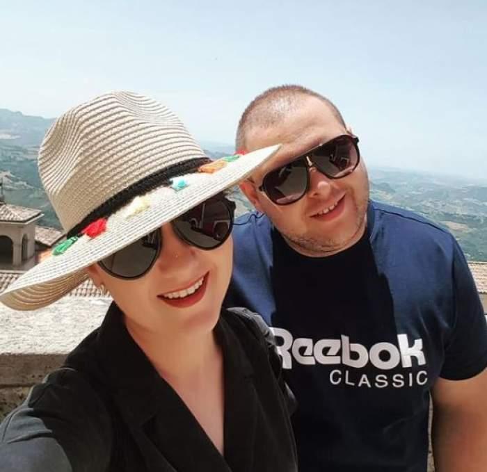 Alexandru Bădițoaia și iubita sa, în vacanță.
