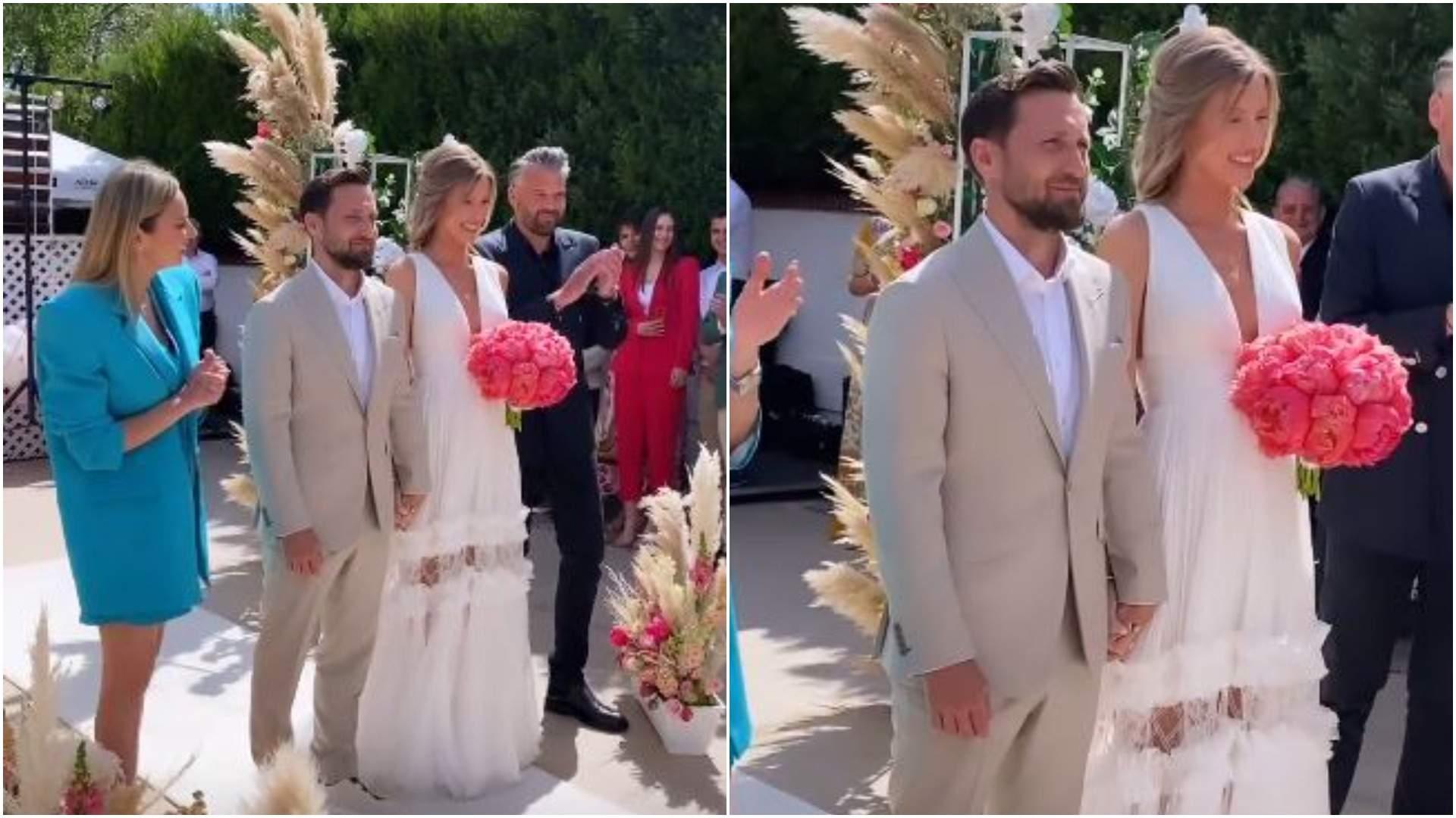 Colaj cu Gabriela Prisacariu și Dani Oțil la nuntă.