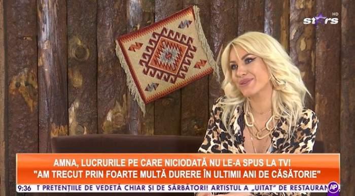 Amna a oferit un interviu pentru Antena Stars