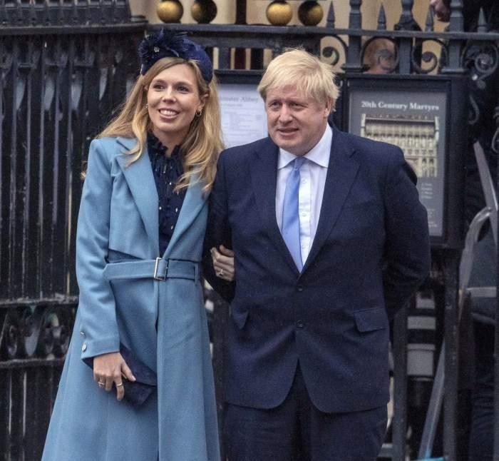 Boris Johnson și soția lui Carrie Symonds