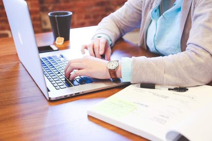 cineva care lucreaza la laptop