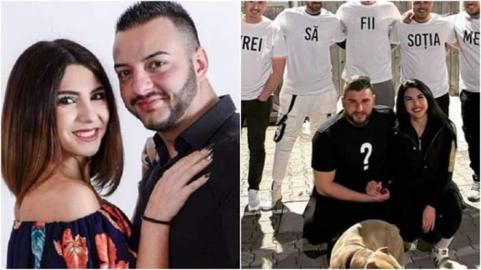 Colaj cu Denisa Jurcan alături de Adrian/ Denisa Jurcan alături de Andrei, iubitul său.