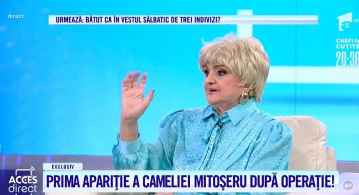 Acces Direct. Camelia Mitoșeru, prima apariție la TV, după operația grea pe creier. Vedeta s-a recuperat complet / VIDEO