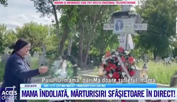 """Acces Direct. Mama Mariei Macsim Nicoară, distrusă de durere la mormântul fiicei sale: """"Îți aud pașii, îți simt mânuța"""""""