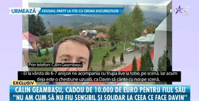 """Călin Geambașu, cadou de 10.000 de euro pentru fiul său, Davin. Ce surpriză uriașă i-a făcut artistul: """"Încerc să țin pasul cu copilul meu"""" / VIDEO"""