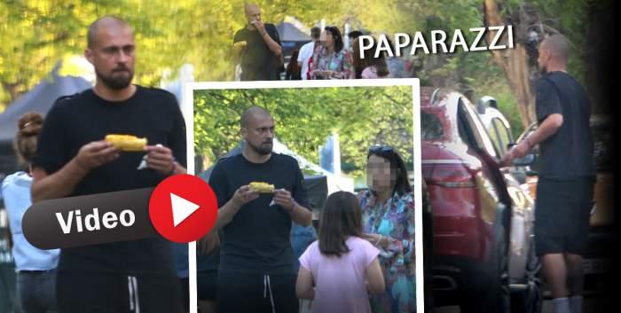 Când nu e pe teren cu mingea, mănâncă porumb fiert în parc! Gabi Tamaș, apariție de senzație alături de soție și copil! Cum a fost surprins celebrul fotbalist / PAPARAZZI