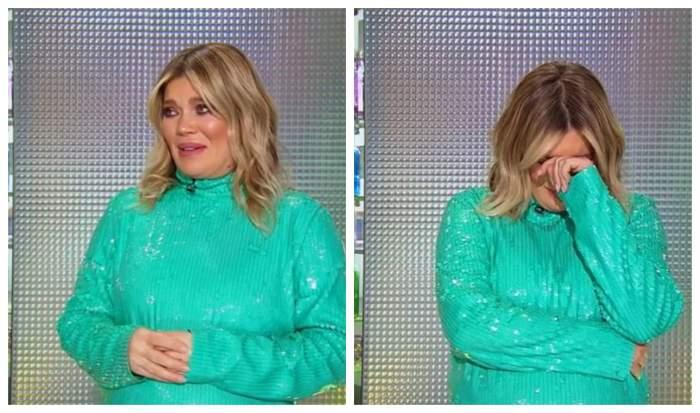 Gina Pistol plange la Chefi la cutite, are o rochie verde