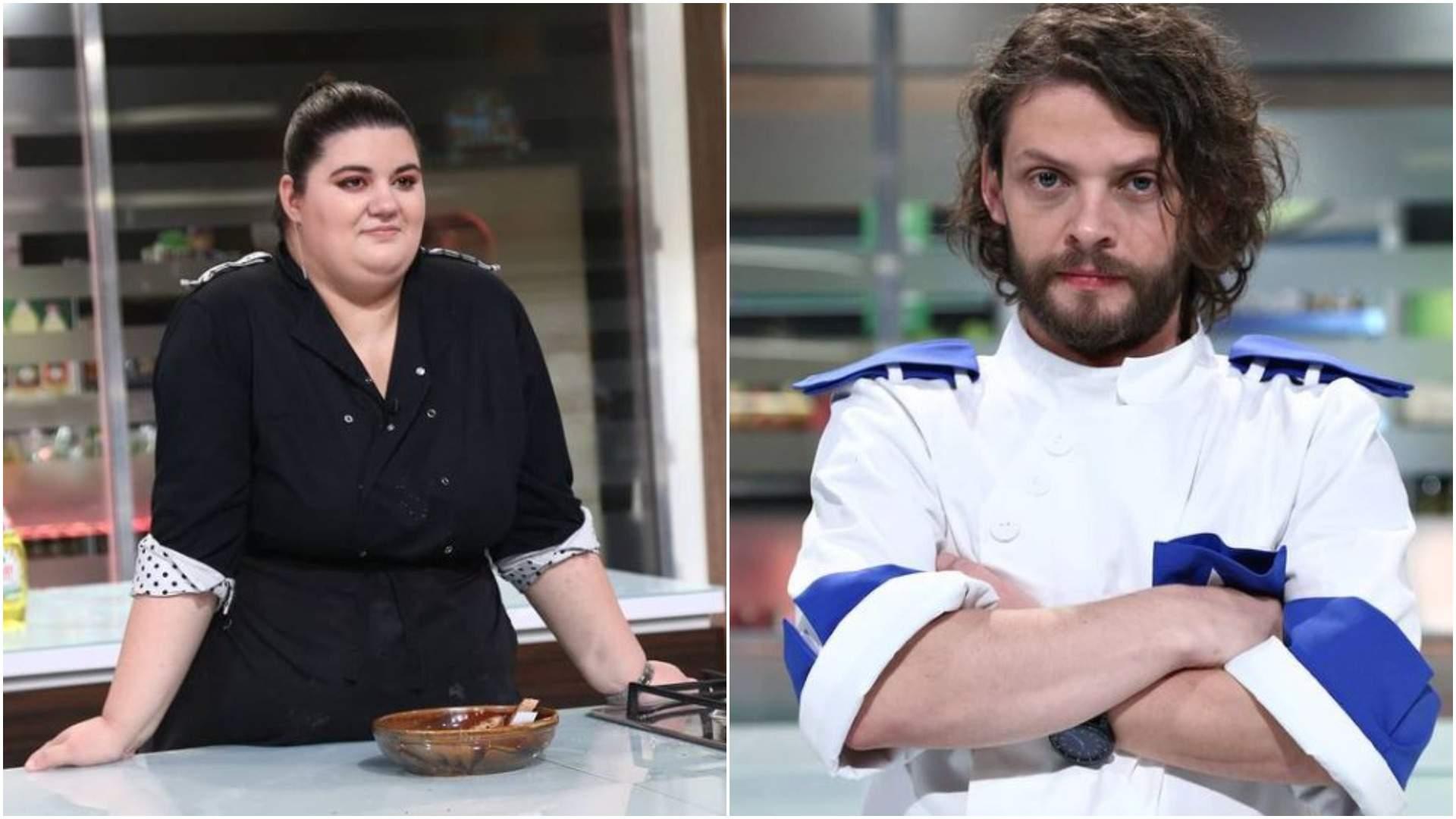 Colaj cu Claudia Radu și Radu Mincu în bucătăria Chefi la cuțite.