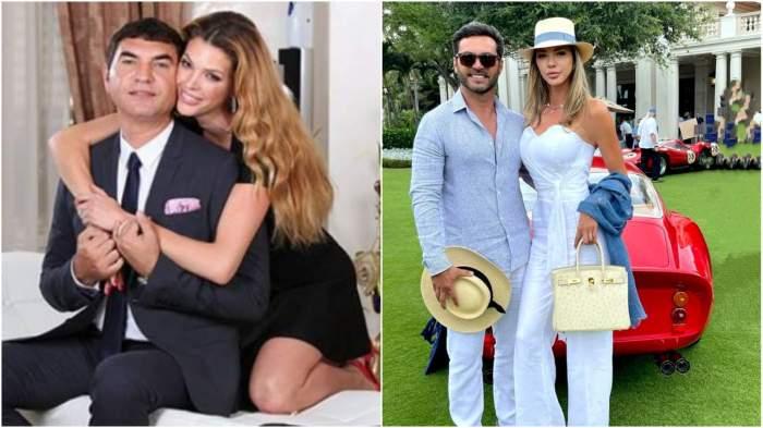 Colaj cu Alina Vidican și Cristi Borcea când formau un cuplu/ Alina Vidican și noul iubit.
