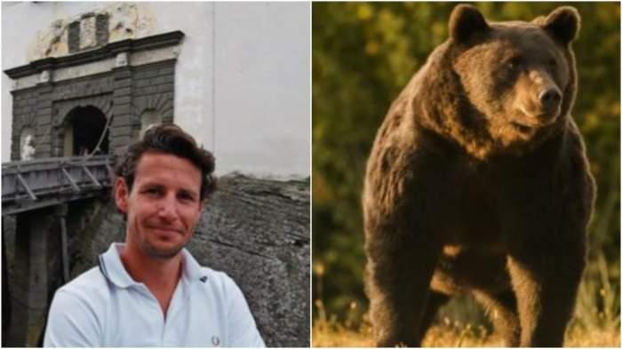 Colaj cu prințul Emanuel din Liechtenstein în tricou alb/ Ursul Arthur.