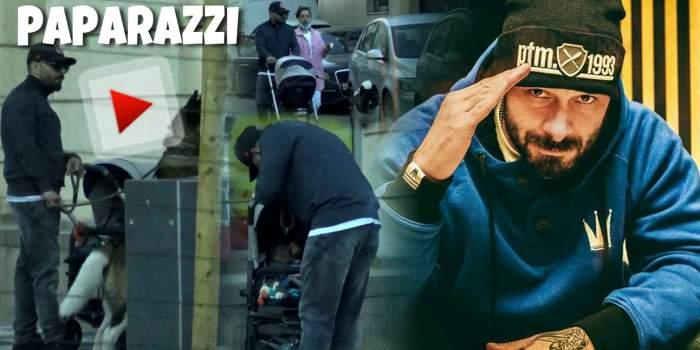 Băiatul rău de după blocuria devenit tătic! Imagini exlcusivecu Uzzi de la B.U.G. Mafia alături de copil și soție/ PAPARAZZI